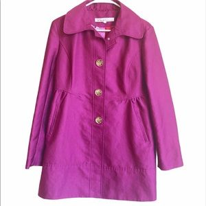 Kenneth Cole Purple Trenchcoat Large